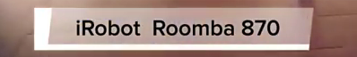 Modelo 870 de Roomba